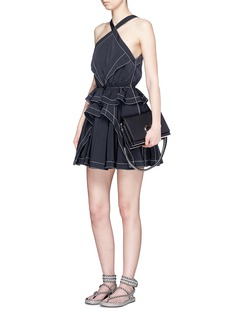 Alexander Wang  Drawcord waist tiered ruffle windbreaker dress