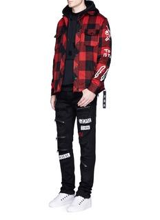Haculla'Punk Work' check plaid flannel jacket