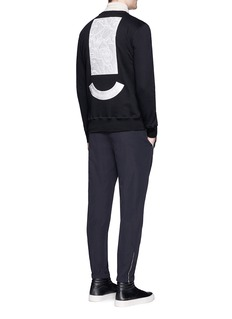 Tim Coppens Bird and mask embroidered patch sweatshirt