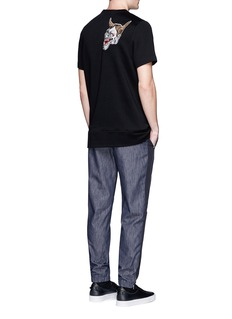 Tim Coppens Bird and devil embroidered patch T-shirt