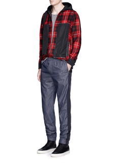 Tim Coppens Check plaid hooded shirt jacket