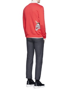 Tim Coppens Devil patch cotton sweatshirt