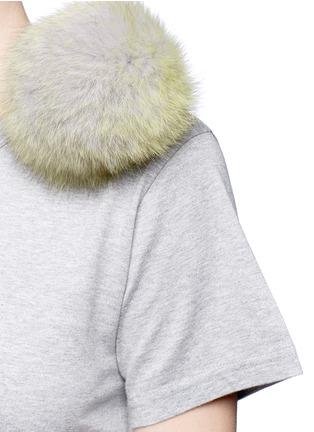 Detail View - Click To Enlarge - Tu Es Mon Trésor - Fur pom pom jersey T-shirt
