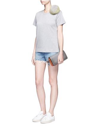 Figure View - Click To Enlarge - Tu Es Mon Trésor - Fur pom pom jersey T-shirt