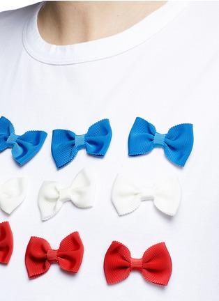 Detail View - Click To Enlarge - Tu Es Mon Trésor - Ribbon appliqué jersey T-shirt