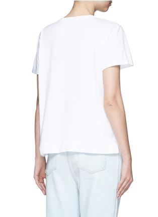 Back View - Click To Enlarge - Tu Es Mon Trésor - Ribbon appliqué jersey T-shirt