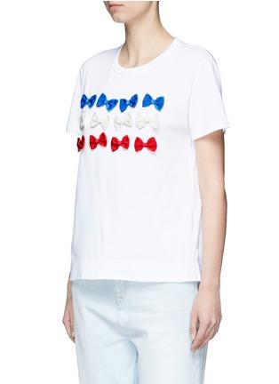 Front View - Click To Enlarge - Tu Es Mon Trésor - Ribbon appliqué jersey T-shirt