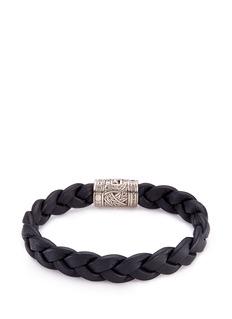 John Hardy Sapphire silver braided leather bracelet