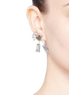 Eddie Borgo'Apollo' pyrite cubic zirconia earrings