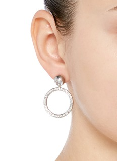 Eddie Borgo 'Voyager' cubic zirconia hoop earrings