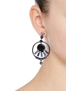 Eddie Borgo 'Europa' agate cubic zirconia hoop earrings