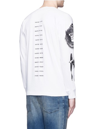 Back View - Click To Enlarge - Saam1 - 'Gladiolus' monkey embroidery Henley shirt