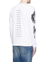 'Gladiolus' monkey embroidery Henley shirt