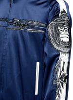 'Gladiolus' monkey embroidery souvenir jacket