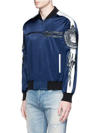 Saam1-'Gladiolus' monkey embroidery souvenir jacket