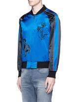 'Violet' tiger embroidery souvenir jacket