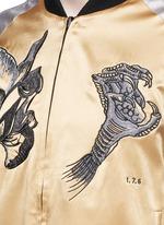 'Sweet Pea' dragon embroidery souvenir jacket