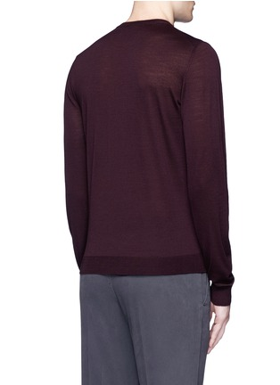 Back View - Click To Enlarge - Armani Collezioni - Wool crew neck sweater