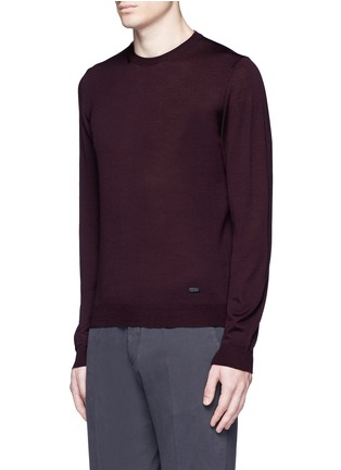 Front View - Click To Enlarge - Armani Collezioni - Wool crew neck sweater