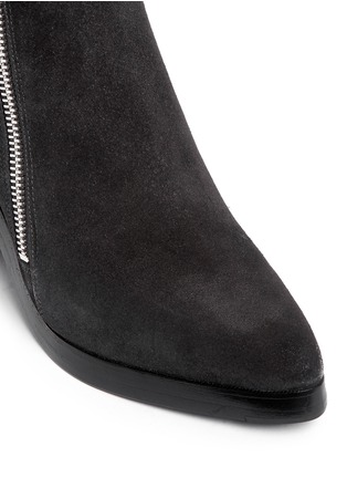 Detail View - Click To Enlarge - KENZO - 'Totem' suede ankle boots