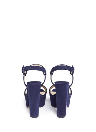 Back View - Click To Enlarge - Paul Andrew - 'Stanton' suede platform sandals