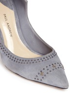 'Manhattan' stud suede pumps