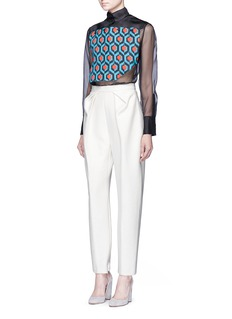 DELPOZO Pleat bonded jersey pants