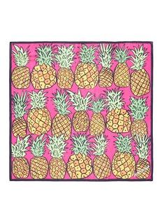 ANNA CORONEO'Pineapple Bella' silk chiffon scarf
