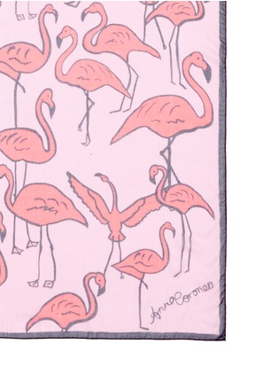 Detail View - Click To Enlarge - Anna Coroneo - 'Flamingos Iride' modal scarf