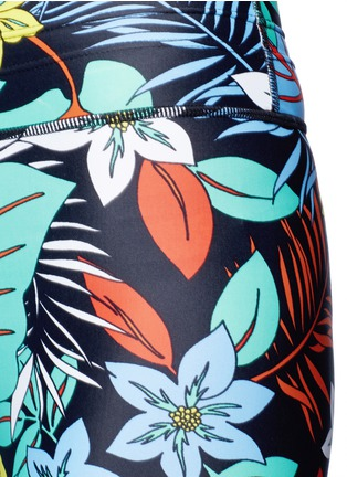Detail View - Click To Enlarge - The Upside - 'Aloha Tropical' print performance leggings