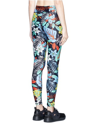 Back View - Click To Enlarge - The Upside - 'Aloha Tropical' print performance leggings
