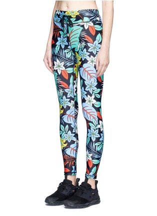 Front View - Click To Enlarge - The Upside - 'Aloha Tropical' print performance leggings