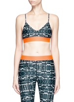 'Jungle Shibori Andie' sports bra top