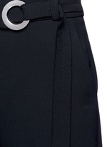 Belted wool culottes