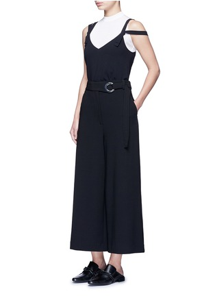 Figure View - Click To Enlarge - Proenza Schouler - Belted wool culottes