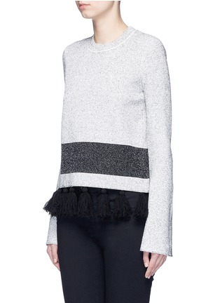Front View - Click To Enlarge - Proenza Schouler - Fringe tassel knit sweater