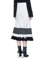 Fringe tassel knit flare skirt