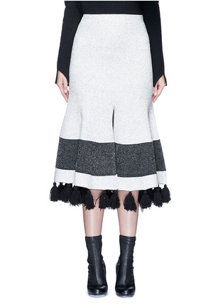 Main View - Click To Enlarge - Proenza Schouler - Fringe tassel knit flared skirt