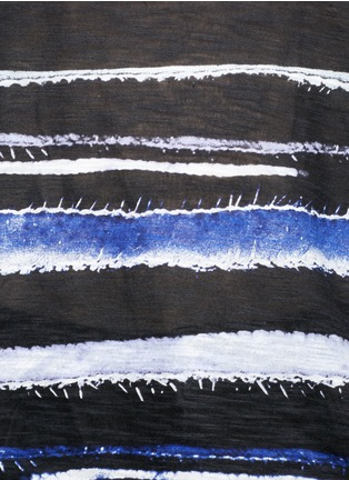 Detail View - Click To Enlarge - Proenza Schouler - Stripe print tissue jersey cotton T-shirt