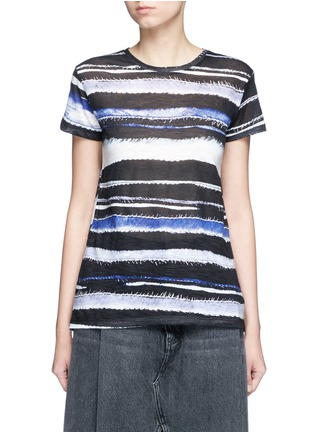 Main View - Click To Enlarge - Proenza Schouler - Stripe print tissue jersey cotton T-shirt