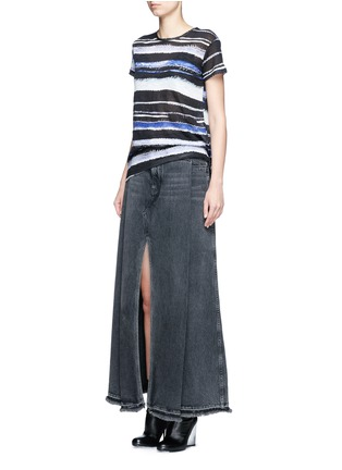 Figure View - Click To Enlarge - Proenza Schouler - Stripe print tissue jersey cotton T-shirt