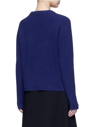 Back View - Click To Enlarge - Proenza Schouler - Side sash tie wool-cashmere sweater