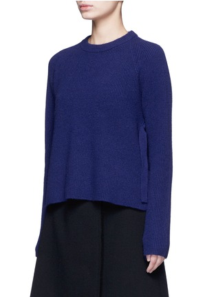 Front View - Click To Enlarge - Proenza Schouler - Side sash tie wool-cashmere sweater