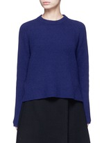 Side sash tie wool-cashmere sweater