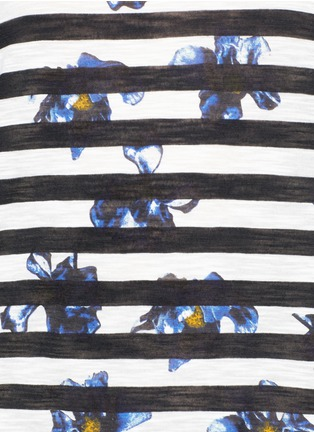 Detail View - Click To Enlarge - Proenza Schouler - Floral stripe tissue jersey cotton T-shirt