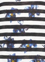 Floral stripe tissue jersey cotton T-shirt