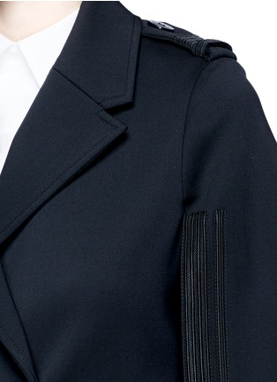 Detail View - Click To Enlarge - Neil Barrett - Oversize virgin wool blend cape