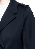 Oversize virgin wool blend cape