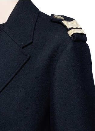 Detail View - Click To Enlarge - Neil Barrett - Metallic stripe virgin wool oversize military coat