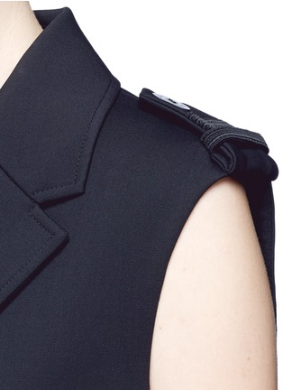 Detail View - Click To Enlarge - Neil Barrett - Virgin wool blend twill oversize sleeveless jacket